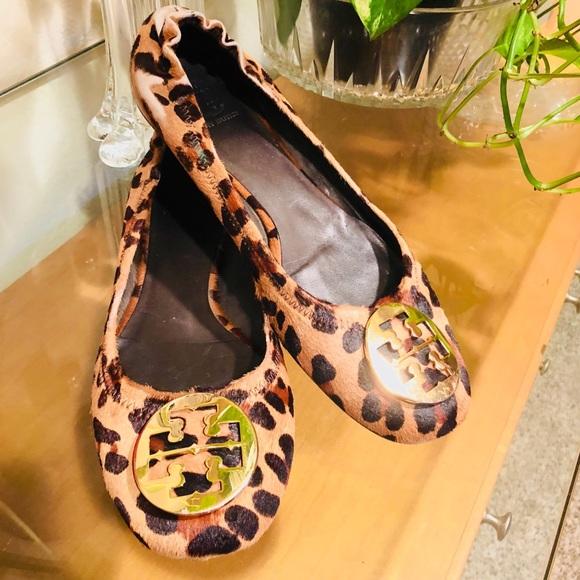 c9964844fdcab Tory Burch Shoes - Tory Burch Pony Hair Cheetah Reva Ballet Shoes 10